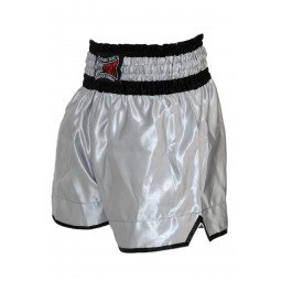 "Short Boxe Thai ""NO LIMIT"" gris"