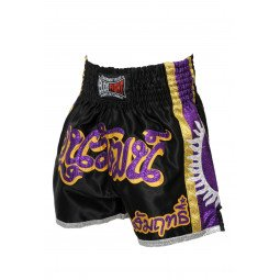 Short Boxe Thai ¨SUPERNOVA¨ noir/violet