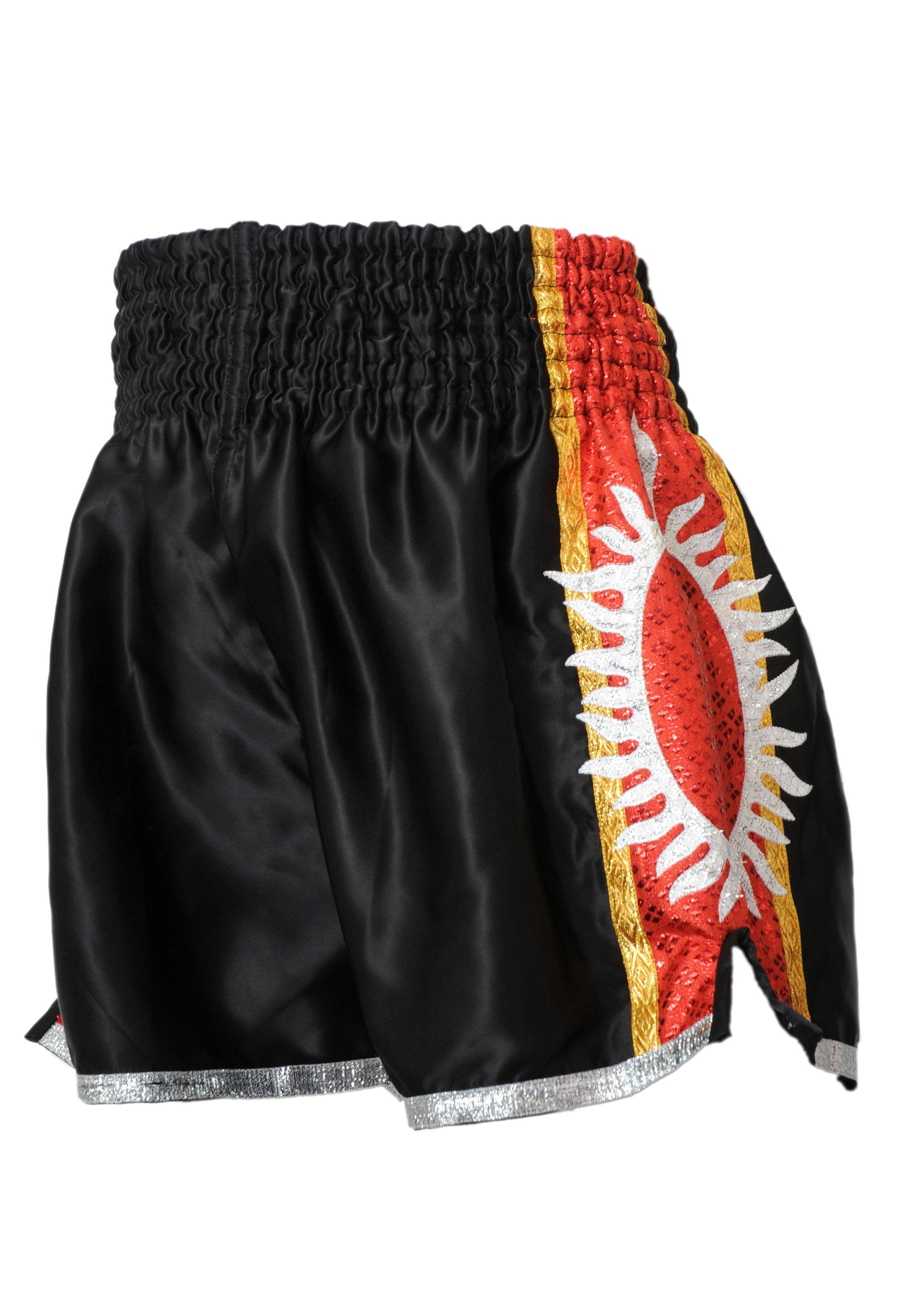 Short Boxe Thai ¨SUPERNOVA¨ noir/rouge