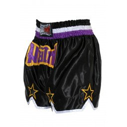 "Short Boxe Thai ""STAR"" Noir/Violet"
