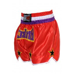 "Short Boxe Thai ""STAR"" Rouge/Violet"