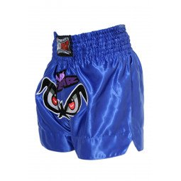 "Short Boxe Thai ""NO FEAR"" Bleu"