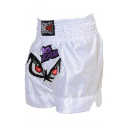 "Short Boxe Thai ""NO FEAR"" Blanc"