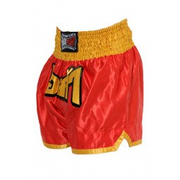 "Short Boxe Thai ""FIGHTER"" Rouge/Jaune"