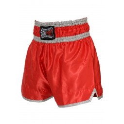 "Short Boxe Thai ""NO LIMIT"" rouge"