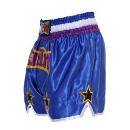 "Short Boxe Thai ""STAR"" Bleu/Violet"