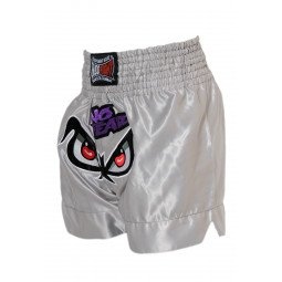 "Short Boxe Thai ""NO FEAR"" Argent"