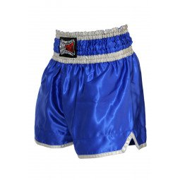 "Short Boxe Thai ""NO LIMIT"" bleu"