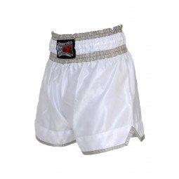 "Short Boxe Thai ""NO LIMIT"" blanc"