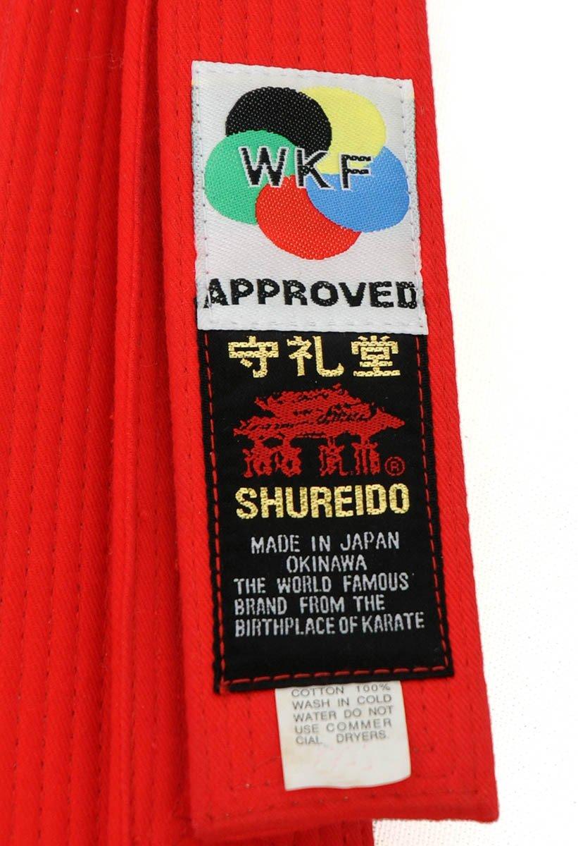 Ceinture Karaté Shureido compétition KATA Rouge