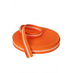 Rouleau Ceinture Judo Orange Avec Une Bande