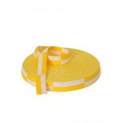 Rouleau Ceinture Karaté Blanc/jaune