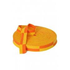 Rouleau Ceinture Karaté Jaune/orange