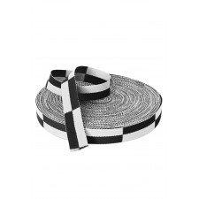 Rouleau Ceinture Karaté Blanc/noir