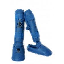 Protege Tibia + Pied Karate Bleu