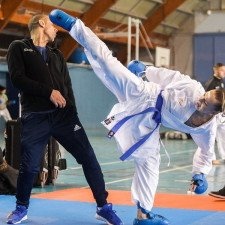 Protege Pied Karate Rouge