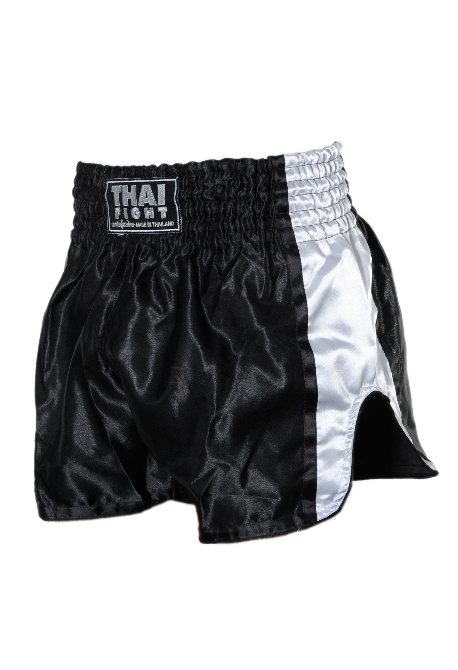 Short Boxe Thai ThaiFight Noir/Blanc