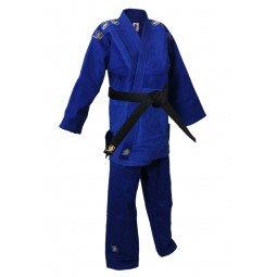 Kimono Judo Bleu Compétition Mondial Avec Broderies