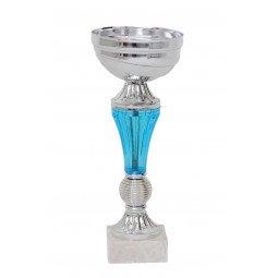 Coupe bicolore argent / bleu 20cm