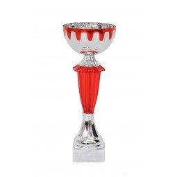 Coupe bicolore argent / rouge 20cm