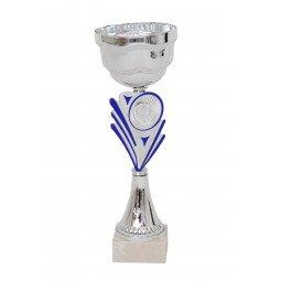 Coupe bicolore argent / bleu 29cm