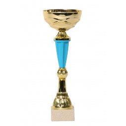 Coupe bicolore or / bleu 28cm