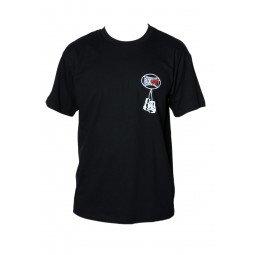 T-shirt Noir Boxe