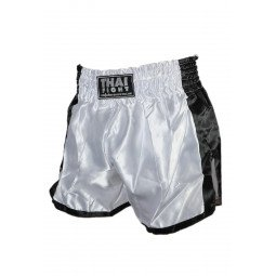 Short Boxe Thai ThaiFight Blanc/Noir