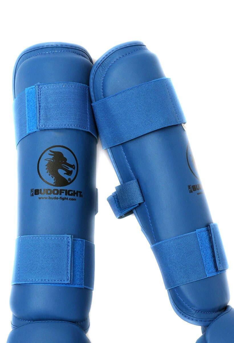 Protège tibia détachable PU bleu