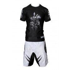 FightShort MMA No Fear Blanc