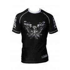 Rashguard MMA Noir Impression tête de mort & ailes