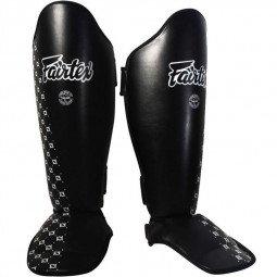 Protège-tibias compétition Fairtex cuir SP5 Noir