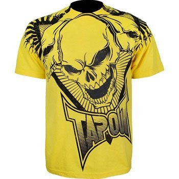 T-shirt Tapout jaune logo crâne