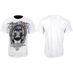 T-shirt Tapout blanc logo crâne