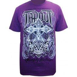 T-shirt Tapout croix violet