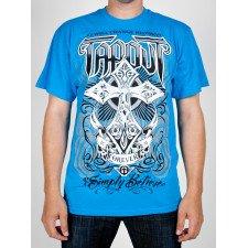T-shirt Tapout bleu croix