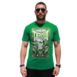 T-shirt Tapout point levé vert