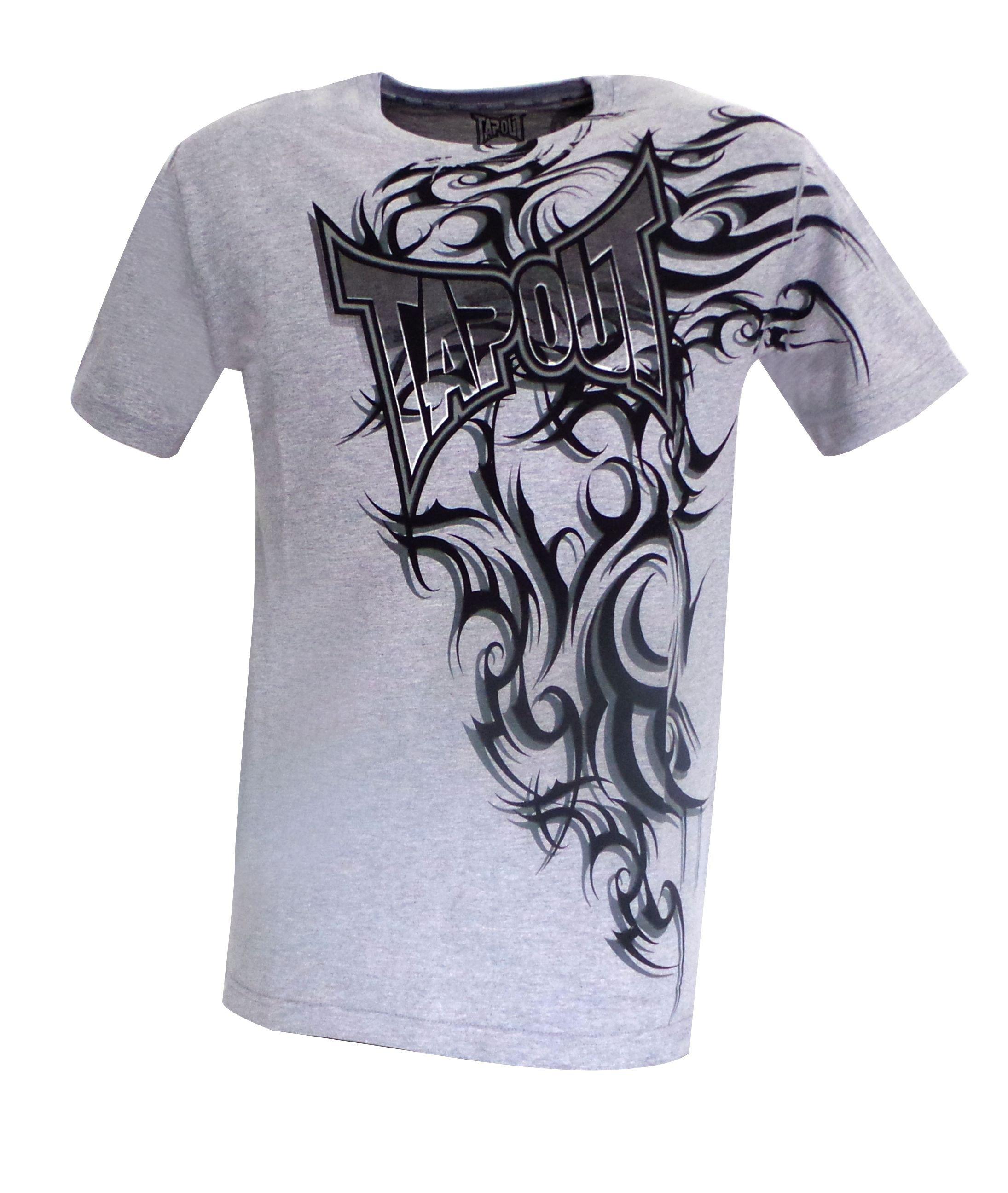 T-shirt Tapout tribal gris