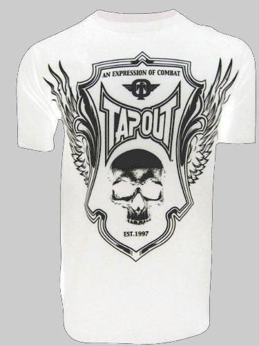 T-shirt Tapout blanc crâne et ailes