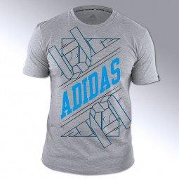 T-shirt Arts martiaux gris-bleu