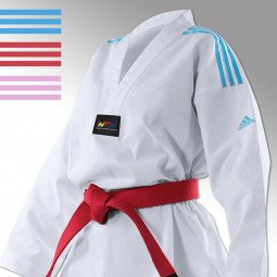 Dobok Taekwondo Adi Club bandes bleues