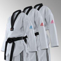 Dobok Taekwondo Adizero couleurs