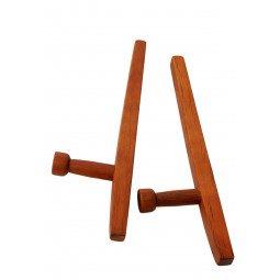 Tonfa Carre Chene Rouge 51cm, Importé d'Asie
