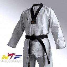 Dobok Taekwondo Adi-Champion II Col noir