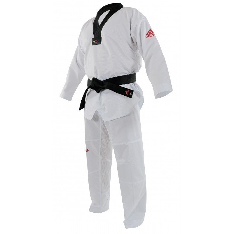 presenting best place exclusive shoes Dobok Taekwondo Adi-Contest logo Rouge