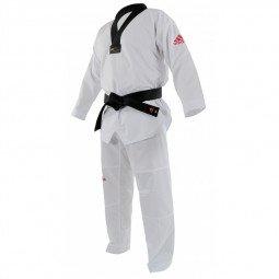 Dobok Taekwondo Adi-Contest logo Rouge