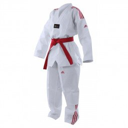 Dobok Taekwondo Adi Club bandes rouges
