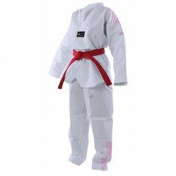 Dobok Taekwondo Adi Club bandes roses