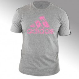 T-shirt Combat Graphic Tee gris/rose