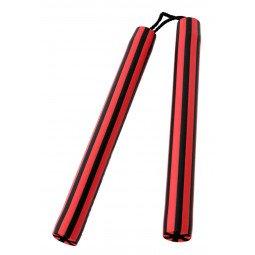 Nunchaku à Corde Mousse 30cm rouge/noir